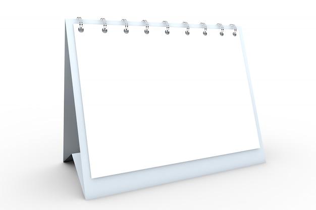 Spiralkalender für schreibtisch aus leerem papier