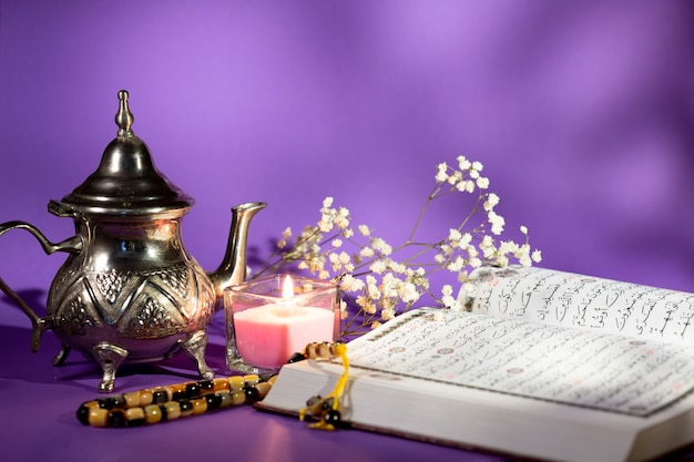 Spirituelle arabische anordnung der vorderansicht