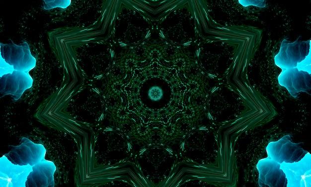 Spiritul grüne blume, orientalisches ornament, bild für buddhistisches mantra.