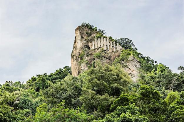 Spitze der inhanga-nadel in copacabana