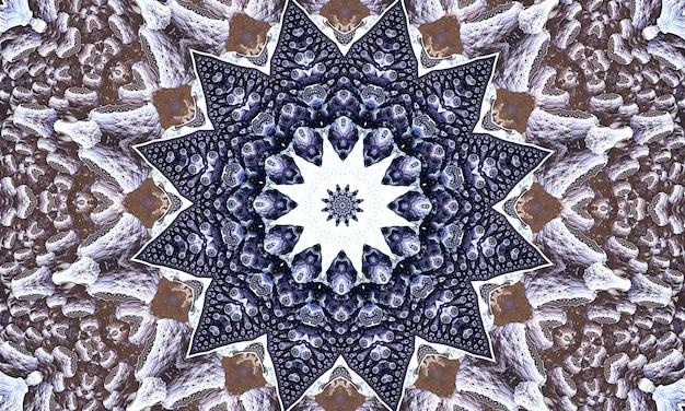 Spitzenbeige nahtloses muster mit geometrieblumen auf pastellrosa hintergrund