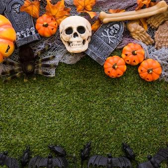 Spooky halloween gras hintergrund