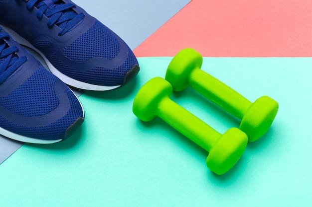 Sport fitnesskonzepte mit fitnessgeräten