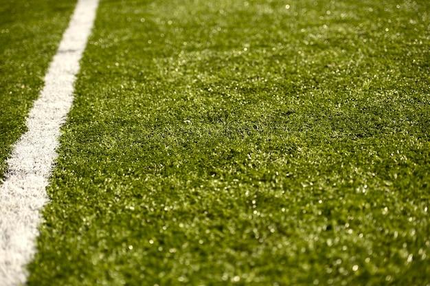 Sport grasfeld mit linie
