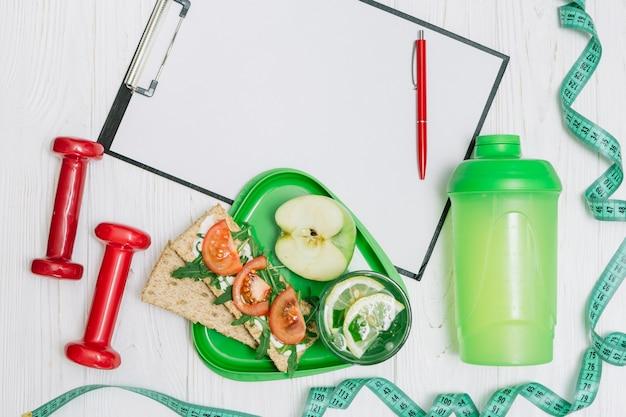 Sport-kit für gesundes abnehmen
