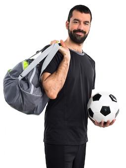 Sport menschen kurz frischen fußball