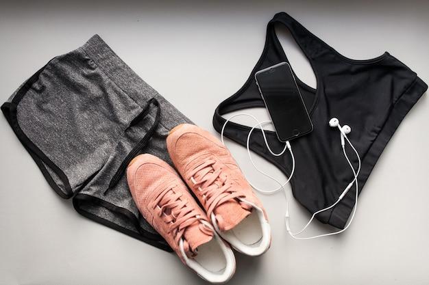 Sportbekleidungssatz sport läuft