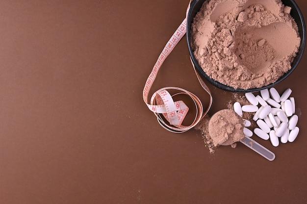 Sporternährung. proteinpulver für cocktails.
