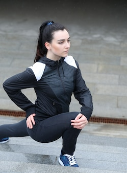 Sportfrau im freien