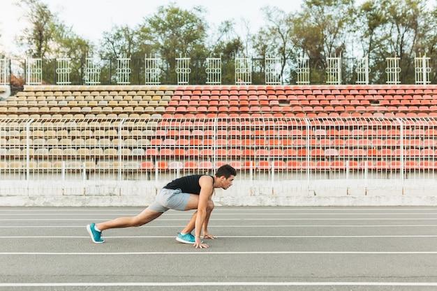 Sportler am start.