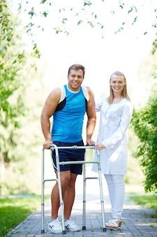 Sportler aus der verletzung erholt
