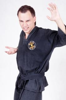 Sportler, kungfu, mann