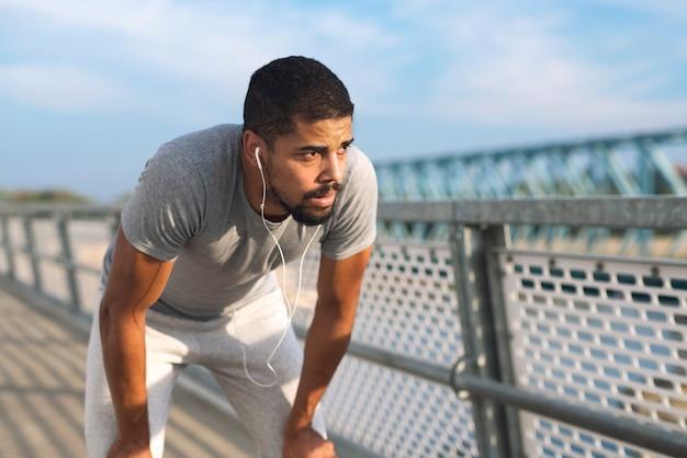 Sportler werden zum training motiviert