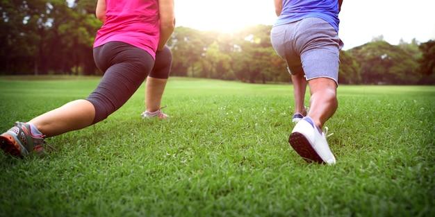 Sportliche übung gesundheit ernährung wahl
