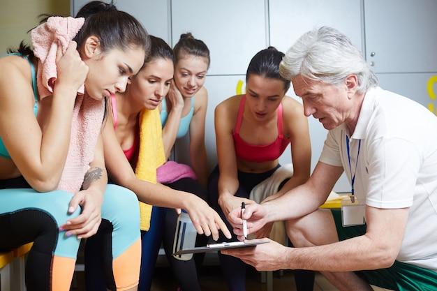 Sportlichen fortschritt diskutieren