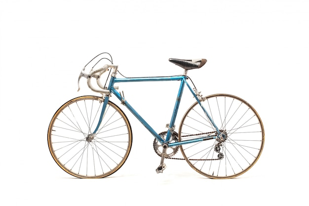 Sportliches blaues fahrrad