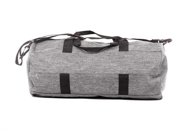 Sporttasche lokalisiert auf dem weißen hintergrund Premium Fotos