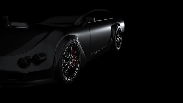 Sportwagen schwarze farbe