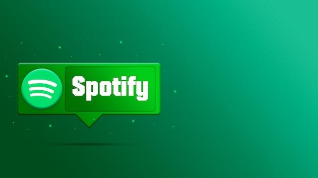 Spotify-logo auf sprachblase 3d rendern