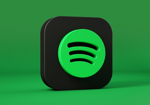 Spotify-symbol isoliert. 3d-rendering