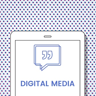 Sprechblase für digitale medien mit anführungszeichen