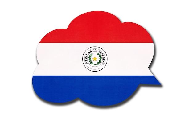 Sprechblase mit paraguayischer nationalflagge isoliert