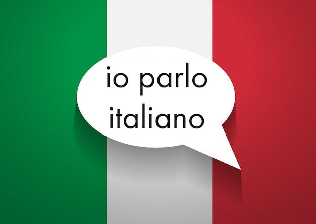 Sprechen italienisch zu unterzeichnen