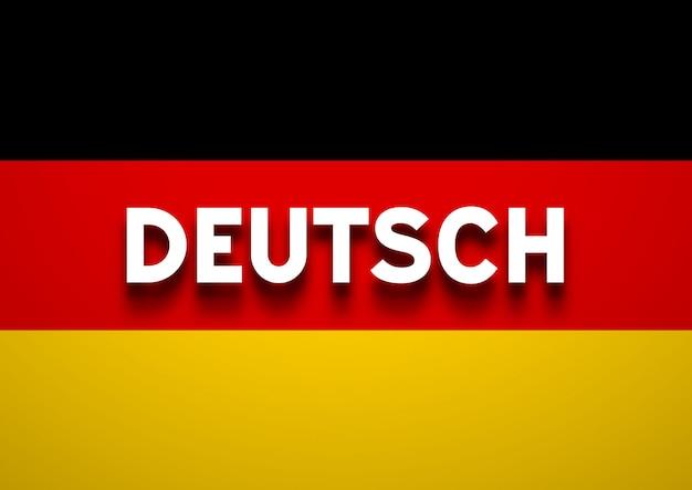Sprechender deutscher hintergrund