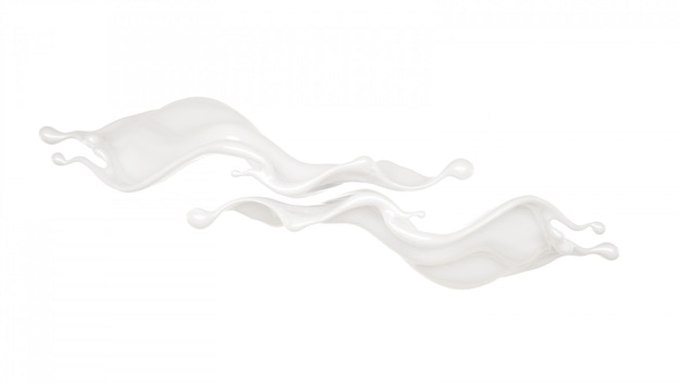 Spritzer dicker weißer flüssigkeit.
