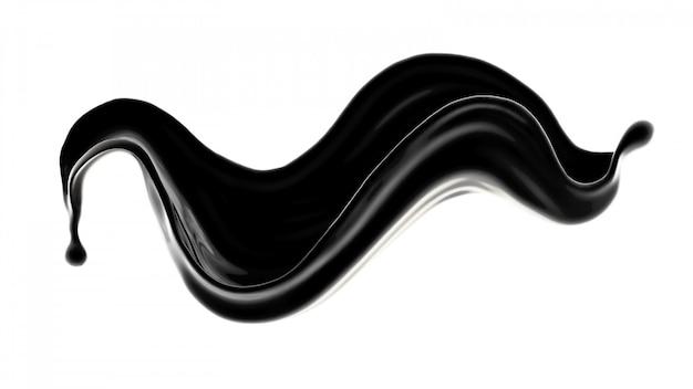 Spritzer schwarzer flüssigkeit.