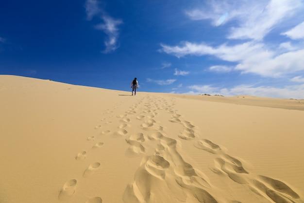 Spuren in den dünen