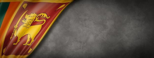 Sri lanka flagge auf betonwand