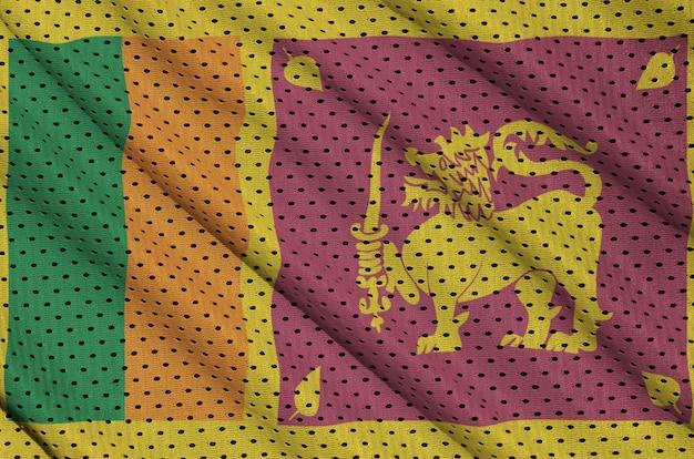 Sri lanka flagge gedruckt auf einem polyester nylon sportswear mesh stoff