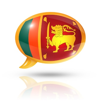 Sri lanka flagge sprechblase