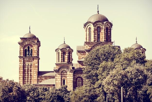 St. markuskirche. belgrad, serbien