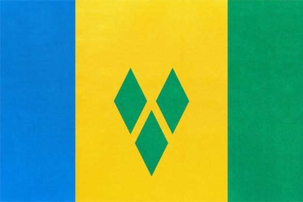 St. vincent und die grenadinen national stoff flagge