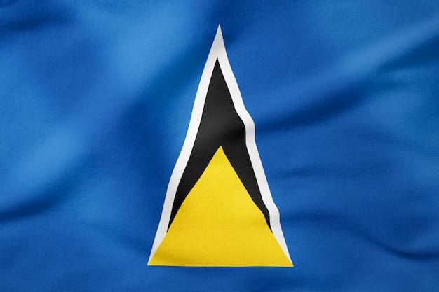 Staatsflagge der st. lucia - patriotisches symbol der rechteckigen form