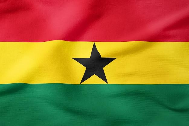Staatsflagge von ghana - patriotisches symbol der rechteckigen form