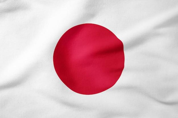 Staatsflagge von japan - patriotisches symbol der rechteckigen form