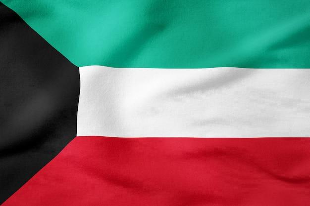 Staatsflagge von kuwait - patriotisches symbol der rechteckigen form
