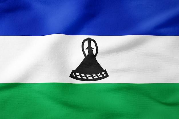 Staatsflagge von lesotho - patriotisches symbol der rechteckigen form