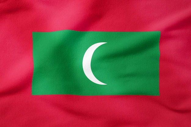 Staatsflagge von malediven - patriotisches symbol der rechteckigen form
