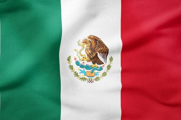 Staatsflagge von mexiko - patriotisches symbol der rechteckigen form