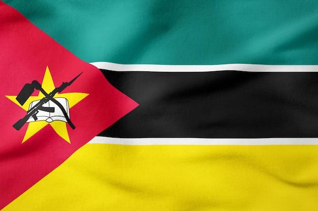 Staatsflagge von mosambik - patriotisches symbol der rechteckigen form