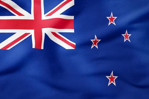 Staatsflagge von neuseeland - patriotisches symbol der rechteckigen form