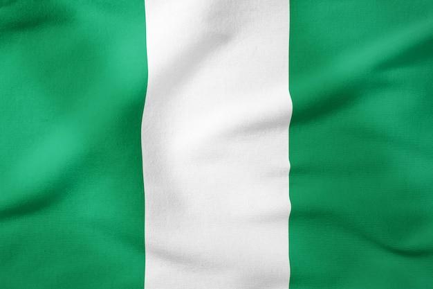 Staatsflagge von nigeria - patriotisches symbol der rechteckigen form