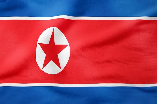 Staatsflagge von nordkorea - patriotisches symbol der rechteckigen form