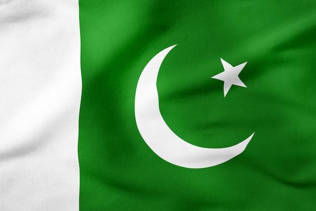 Staatsflagge von pakistan - patriotisches symbol der rechteckigen form