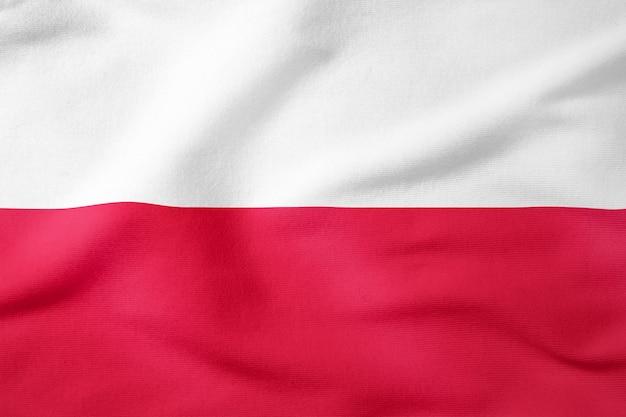 Staatsflagge von polen - patriotisches symbol der rechteckigen form