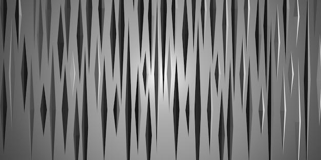 Stacheliges dreieck abstrakter geometrischer hintergrund 3d-darstellung